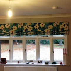 Large Kitchen Window Treatments Cook Stoves Making Roman Blinds For Windows