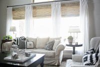 Natural Bamboo Roman Shades