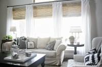 Natural Bamboo Roman Shades | Window Treatments Design Ideas