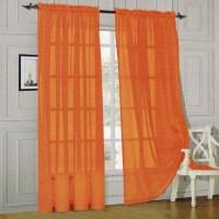 Orange Sheer Scarf Valance   Window Treatments Design Ideas