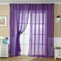Purple Sheer Scarf Valance | Window Treatments Design Ideas