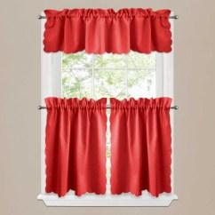 Red Valances For Kitchen Windows Pot Racks Types Of Window Treatments Design Ideas