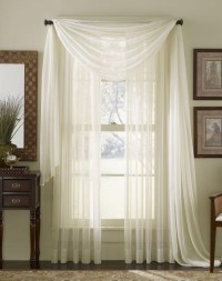Sheer Scarf Valance Window Treatments | Window Treatments ...