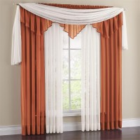 Vista Sheer 288 Inch Scarf Valance | Window Treatments ...