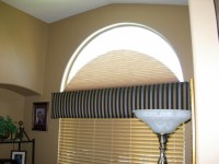 Arched Windows Curtains. Coffee Tables : Curved Curtain ...