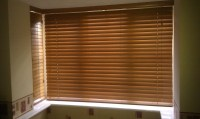 Wood Mini Blinds For Windows | Window Treatments Design Ideas