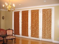 Roman Shade For French Doors | Window Treatments Design Ideas