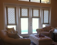 Roman Shades For French Doors   Window Treatments Design Ideas