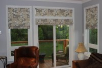 Roman Shades For Patio Doors | Window Treatments Design Ideas