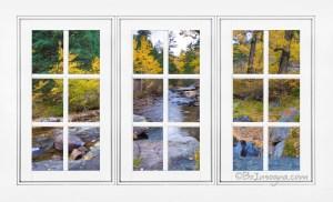 Autumn Creek White Picture Window Frame View
