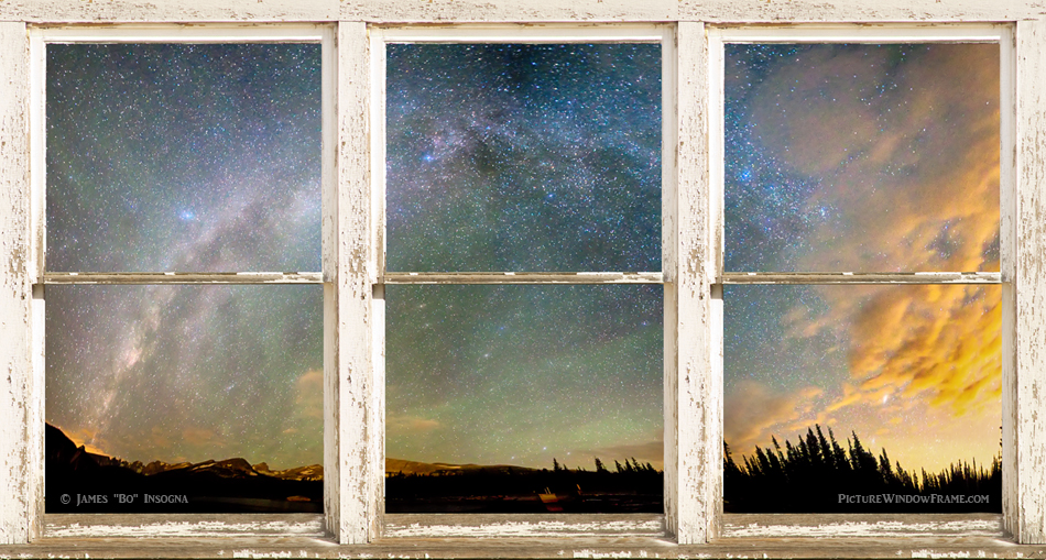 Wallpaper Fall Farmhouse Colorado Milky Way Panorama Rustic Window View Window