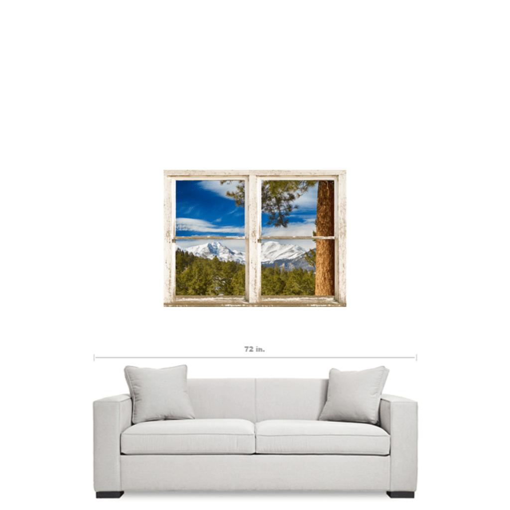 Colorado Rocky Mountain Rustic Window View 30x40x125 Premium Canvas