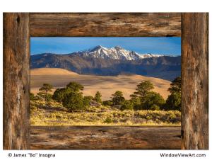 Sand dunes window view art