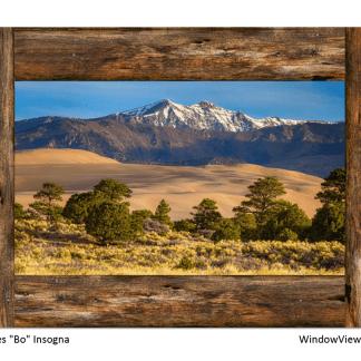 Mountain Lake Love Window View 32″x48″x1.25″ Premium Canvas Gallery Wrap