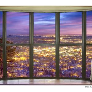 City Lights Window View Art