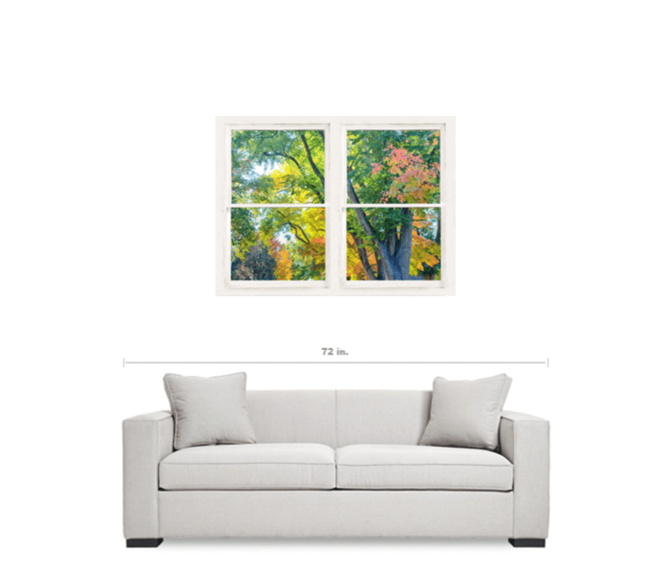 Colorful Rooms With A View: Colorful Forest Rustic Whitewashed Window View 30″x40″x1