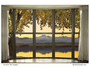 Rocky Mounatins Bay window view