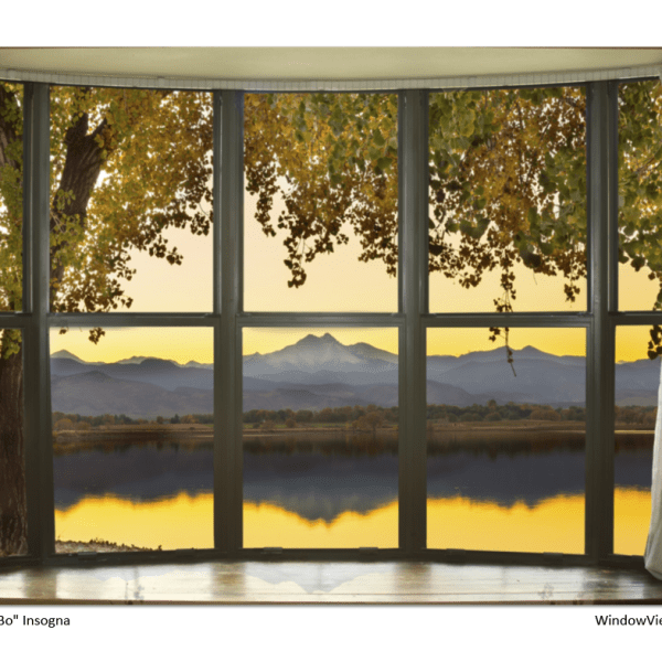 Rocky Mountain Golden Reflections Bay Window View 32″x48″x1.25″ Premium Canvas Gallery Wrap
