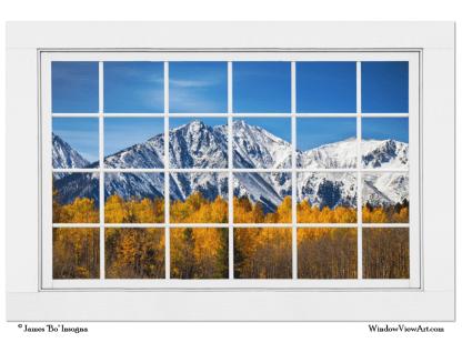 Rocky Mountain Autumn High White Picture Window 32″x48″x1.25″ Premium Canvas Gallery Wrap