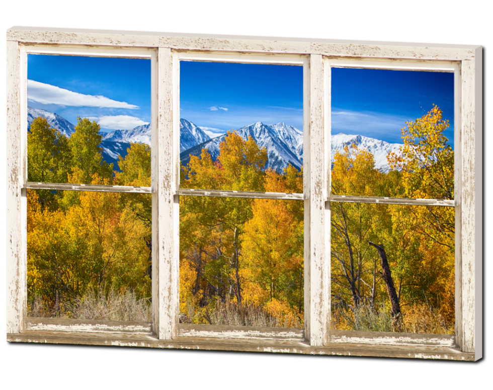 colorado window view canvas art