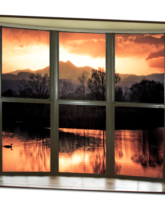 Golden Ponds Bay Window View 32″x48″x1.25″ Premium Canvas Gallery Wrap Art