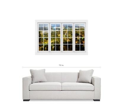 City Lights White Window Penthouse View 32″x48″x1.25″ Canvas Wrap Art