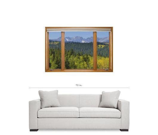 Colorado Rocky Mountain Continental Divide Autumn Contemporary Window View Art 32″x48″x1.25″ Premium Canvas Gallery Wrap