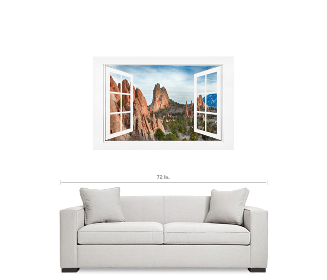 Garden Of The Gods Open 12 Pane White Picture Window Frame View 32 ...