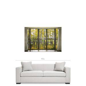 Autumn Forest Bay Window View 32 x48x1.25 Premium Canvas Gallery Wrap Art