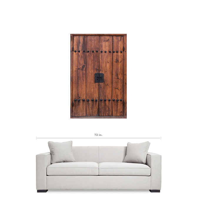 Door of Bukchon Hanok Village Seoul South Korea 32x48 Premium Canvas Gallery Wrap