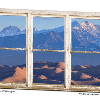 Colorado Sand Dunes Rustic Picture Window 32x48x1.25 Premium Canvas Gallery Wrap