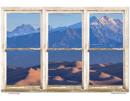 Colorado Sand Dunes Rustic Picture Window 32x48x1.25 Premium Canvas Gallery Wrap