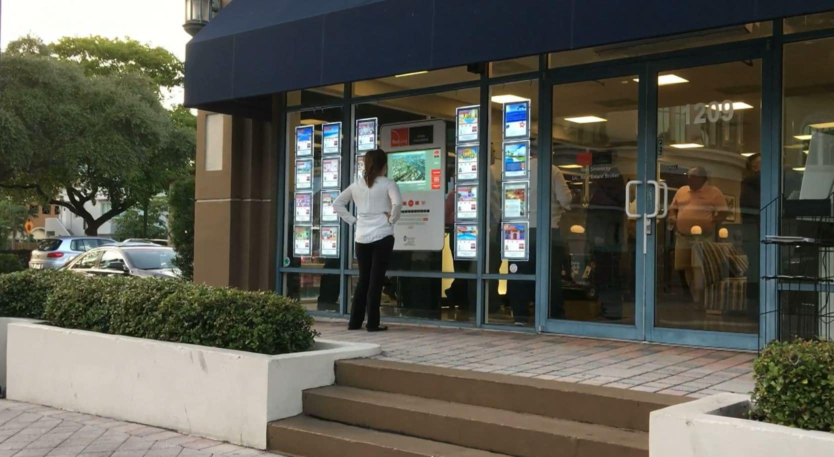 Real Estate Marketing - Interactive Window Display