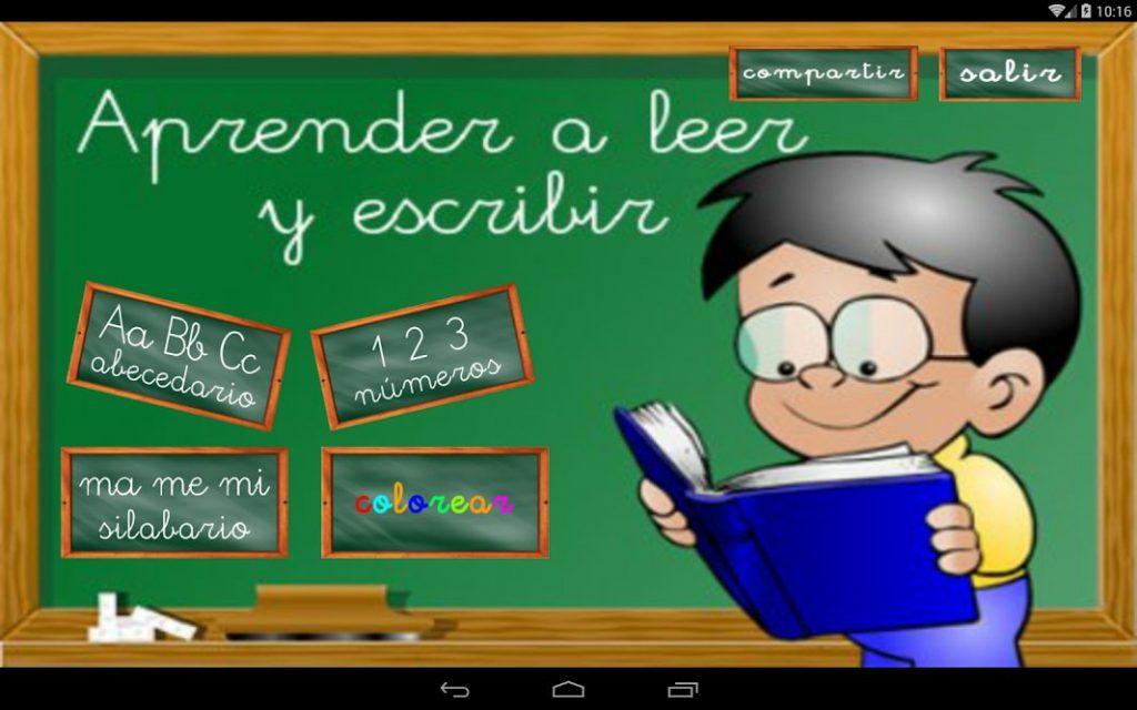 Aprender a Leer y escribir - aplicación para niños