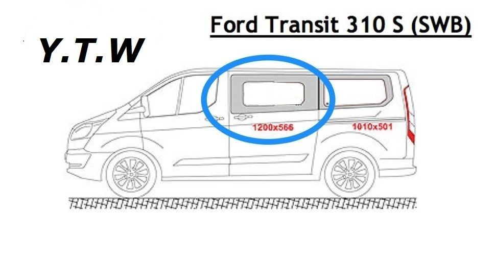 FORD TRANSIT CUSTOM SWB N/S & O/S FRONT PRIVACY SIDE