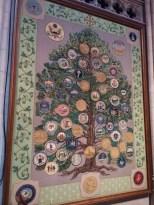 美国各州徽章织毯