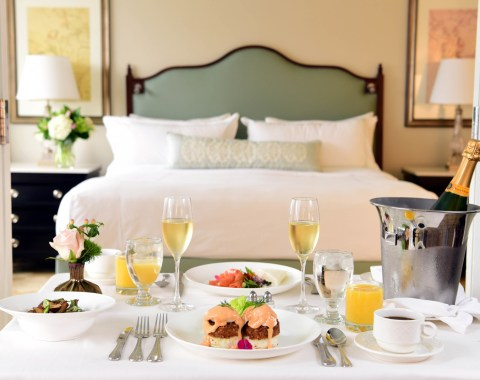 Windsor Court Luxury Hotel features 24-hour in room dining