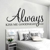 Always Kiss Me Goodnight Wall Decor - Kamasutra Porn Videos