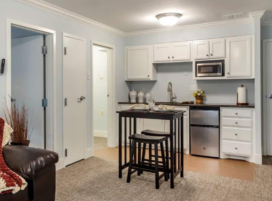 assisted living senior apartment kitchen