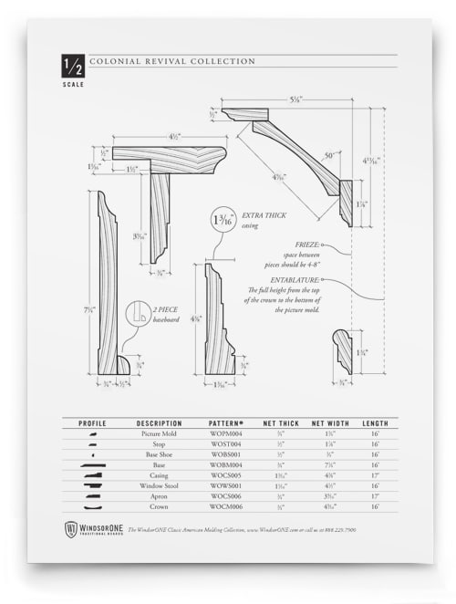 chair rail molding profiles high that hooks on table colonial revival moldings, 20th century style | windsorone