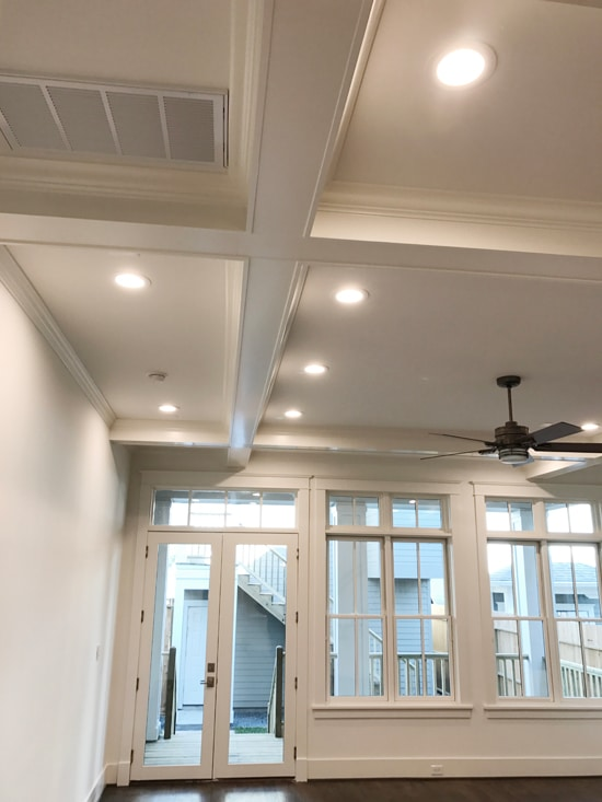 Craftsman Moldings & Box Beam Ceiling