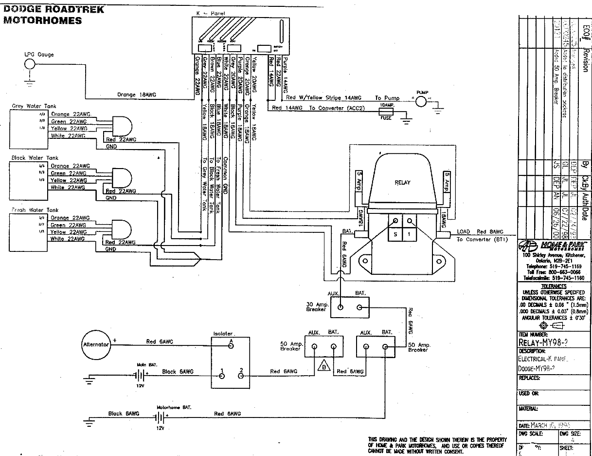roadtrek 190 wiring diagram