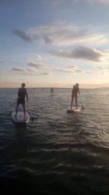 Excursión de paddle surf en el atardecer de santa pola