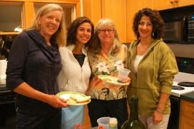 Pam, Sara, Darlene and Mitra