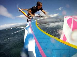Chris Freeman prepairing in Maui for the Pistol River Wave Bash