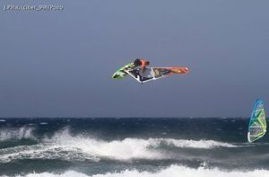 Ricardo Campello in Pozo on his new sails