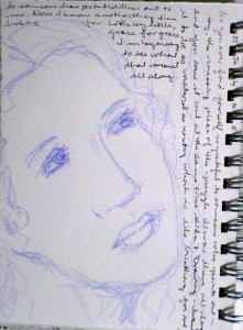 I was struggling quite a bit at this point--what to paint? what to draw? See, words helped. 23 July 2015