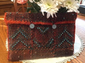 Laura Sapko's beaded purse--front view