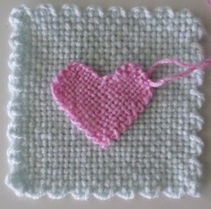 "I think mine must be comparable to Hazel Rose's 2"" sweetheart loom. (Shown on a 4"" x 4"" square.)"