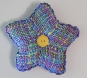Star cushion--variegated side.